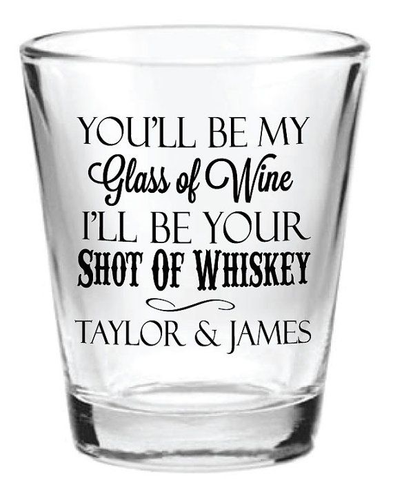 Personalized Wedding Shot Glasses Favors 1.5oz Glass by Factory21
