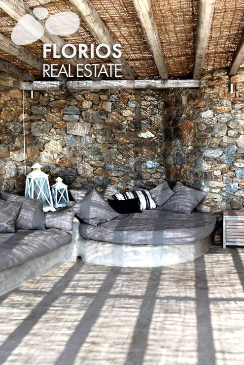 Both villas are located on the hilltops of the  northwest area of Mykonos. These villas have stunning panoramic views over the entire island, from the island of Tinos ,Syros ,Delos to the heart of the town and the airport.  Two Villas for Sale on Mykonos island, Greece. FL1026 http://www.florios.gr/en/mykonos-property/17.html