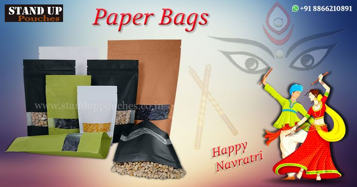 #StandUpPouches produces paper bags in various styles and sizes. paper bags could be manufactured in different forms #PAPERBAGWITHWINDOW #STANDUPPOUCHES