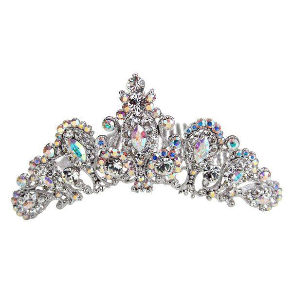 Buy Bridal Tiara Online | Wedding Tiara ($29) ❤ liked on Polyvore featuring accessories, hair accessories, jewelry, tiara, crowns, silver hair accessories, bride hair accessories, bride tiara, bridal tiaras and crown tiara