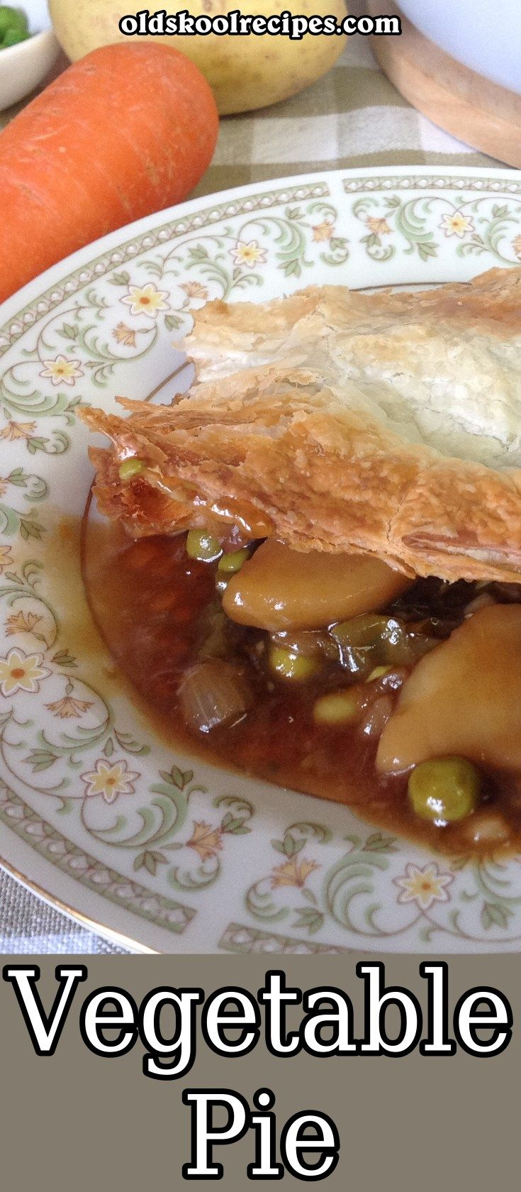 Vegan Vegetable Pie Recipe - Old Skool Recipes - This vegetable pie is a perfect winter warmer. It is filled with lots of yummy vegetable. So easy to make and simply delicious. It is completely Vegan too.