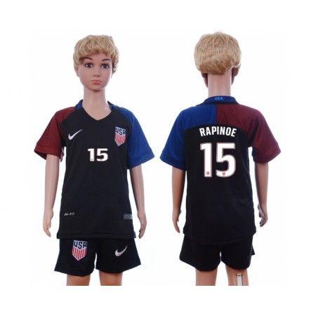 USA Trøje Børn 2016 #Rapinoe 15 Udebanetrøje Kort ærmer.199,62KR.shirtshopservice@gmail.com