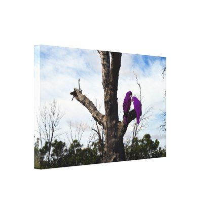 Purple Macaws Sitting In A Tree Canvas Print - diy cyo personalize design idea new special custom