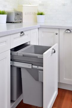 LARGE trash cans Kitchen, Glenbrook - transitional - Kitchen - Toronto - ATD Contracting Services Inc.