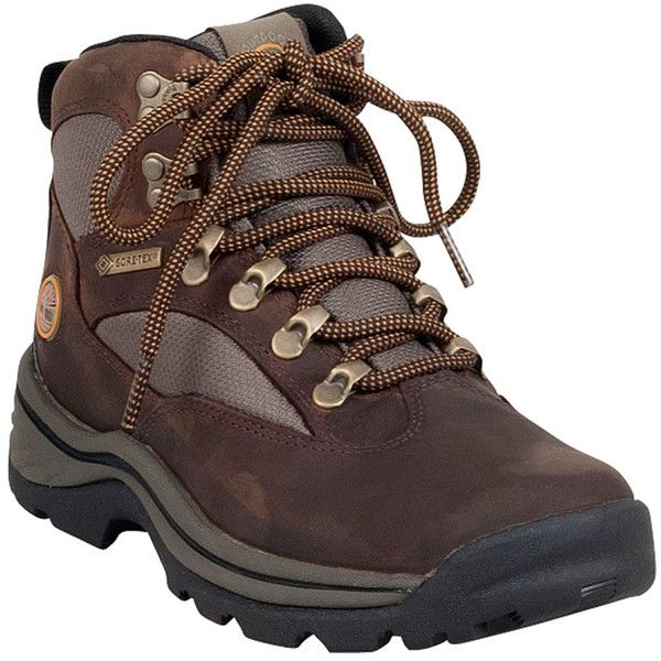 Timberland Women's Chocorua Trail Mid Waterproof Boot (170 CAD) ❤ liked on Polyvore featuring shoes, brown, water proof hiking boots, timberland footwear, laced shoes, genuine leather shoes and timberland shoes