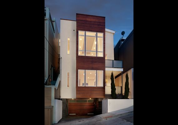 Modern home on narrow lot with plans home pinterest for Modern house design rules
