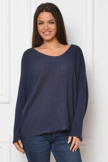 pulover bleumarin Aida