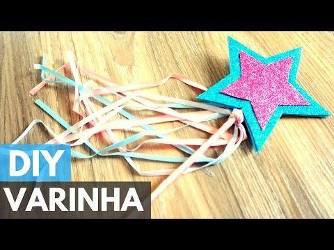 Varinha de condão/mágica em E.V.A  DIY - Faça você mesmo - YouTube