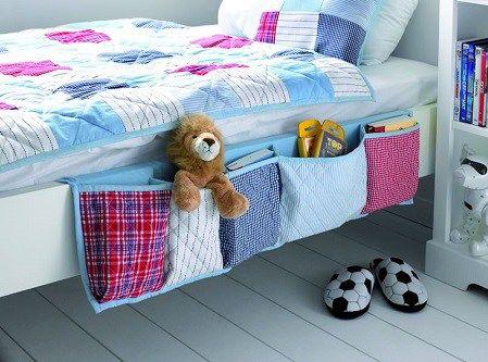 Кармашки для хранения на кровати