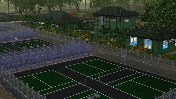Tennis field.