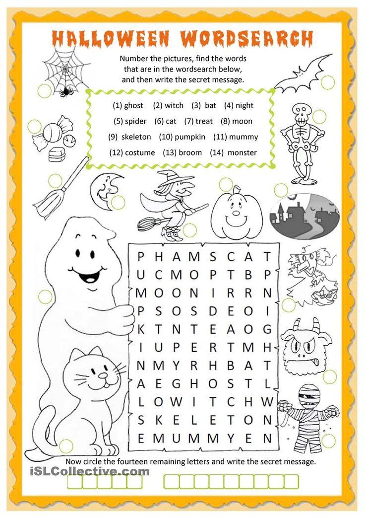 Halloween wordsearch   FREE ESL worksheets