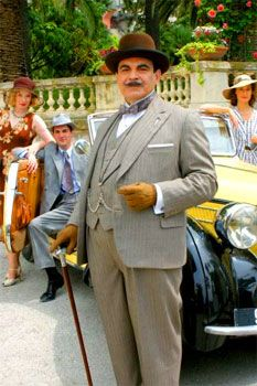 David Suchet as Hercule Poirot in The Mystery of the Blue Train - reminds me of @Jamie Davis
