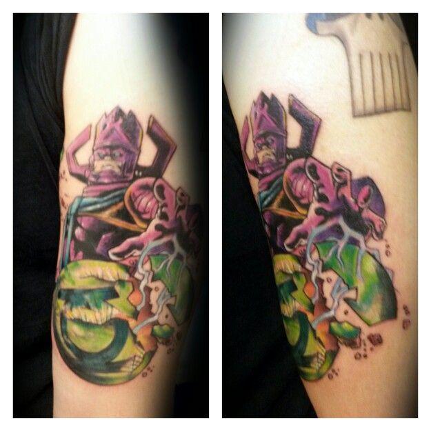 galactus tattoo done by ann mare grove that tattoo shop