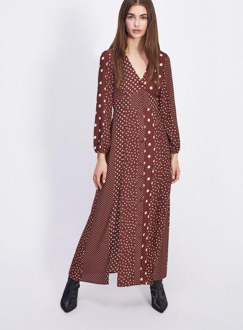dd79d2f335fee PETITE Chocolate Polka Dot Maxi Dress | Fashion | Polka dot maxi ...