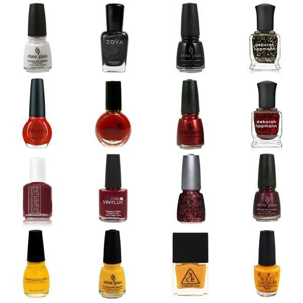 Red, Burgundy, & Yellow Nail Polish Shades & Color