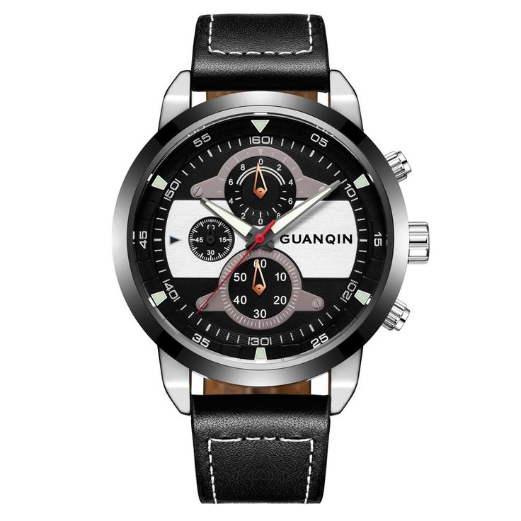 GUANQIN Sapphire Luminous Sports Style Quartz Men Watch Sales Online black - Tomtop.com
