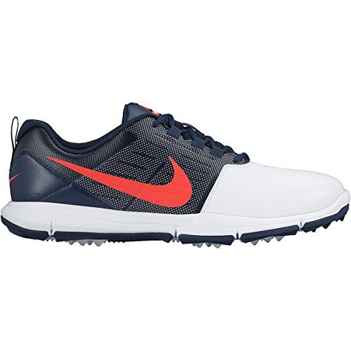 Nike Herren Explorer Lea Golfschuhe, Blanco / Naranja / Negro (White/Bright Crimson-Obsidian), 42 EU - http://on-line-kaufen.de/nike/42-eu-nike-herren-explorer-lea-golfschuhe