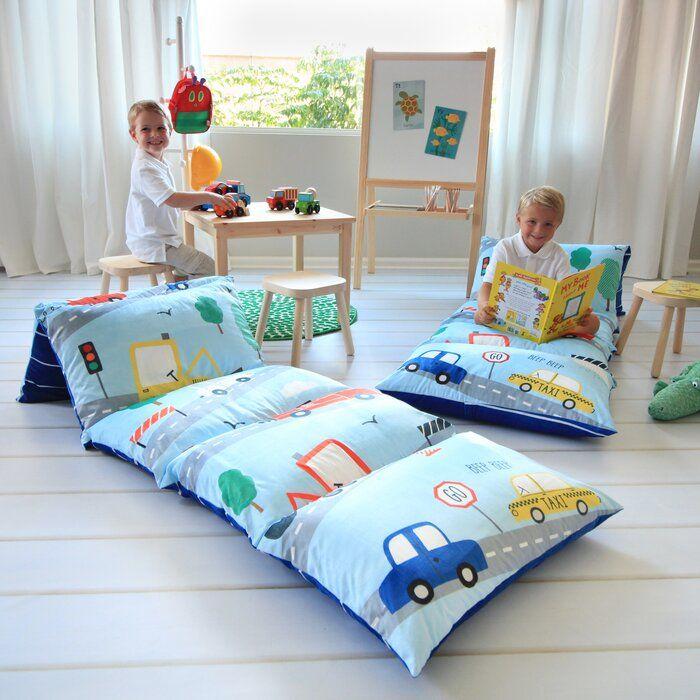 Zoomie Kids Hopedale Transportation Themed Pillow Cover Reviews Wayfair Kids Pillows Bed Floor Pillows Kids Bed Pillows