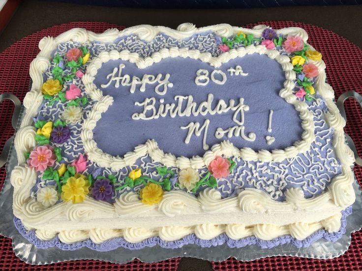 Eine besondere 80. Geburtstagstorte für Mama in ihren Lieblingsfarben! Sie liebte es…   – gâteaux
