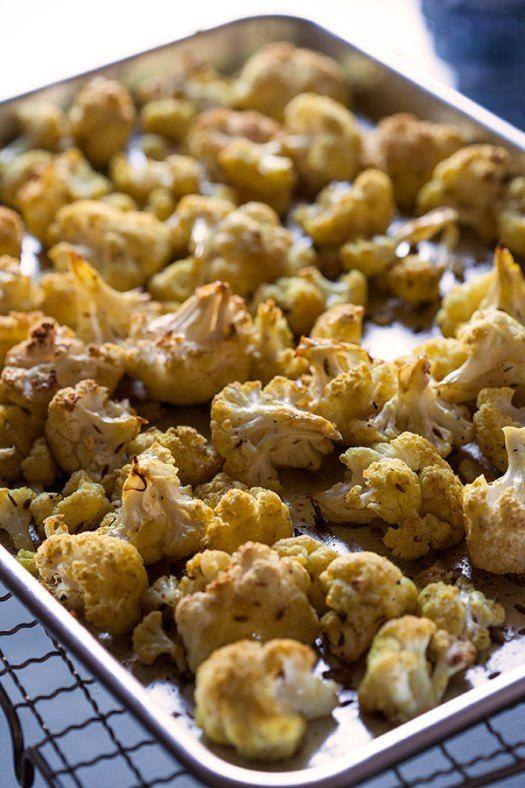 Maple Mustard #Chicken w/ Roasted #Curry #Cauliflower @artfulgourmet