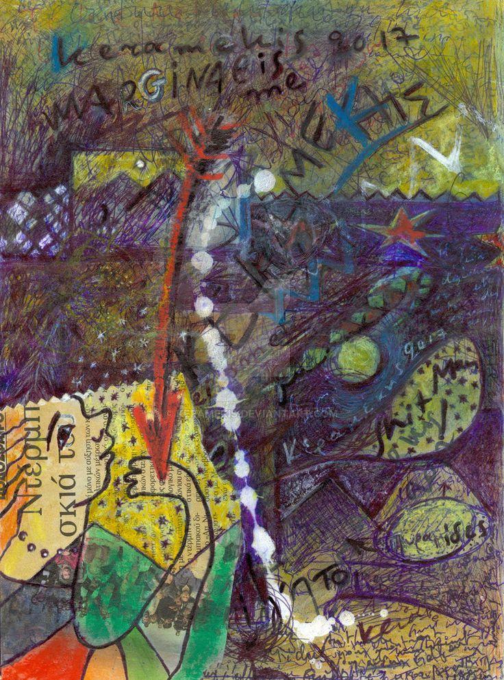 Des couleurs, des croquis et des bavures sur une feuille de notes d'après mon voyage en Egypte en octobre dernier (2017) https://marginalisme.blogspot.com