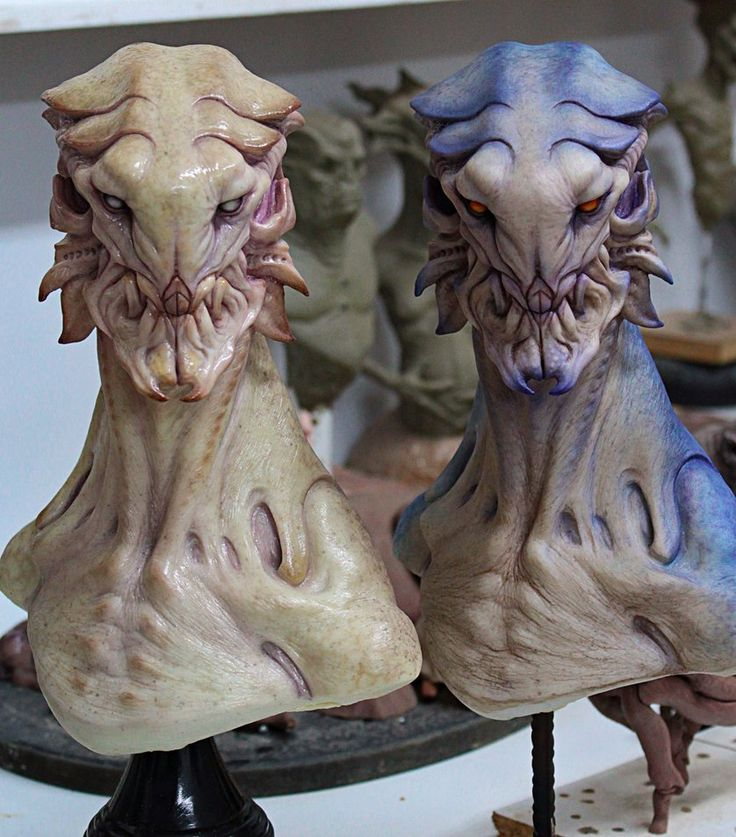 alien busts by BOULARIS on DeviantArt