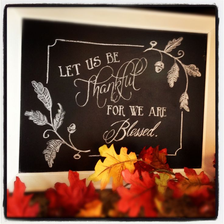 thanksgiving chalkboard art.