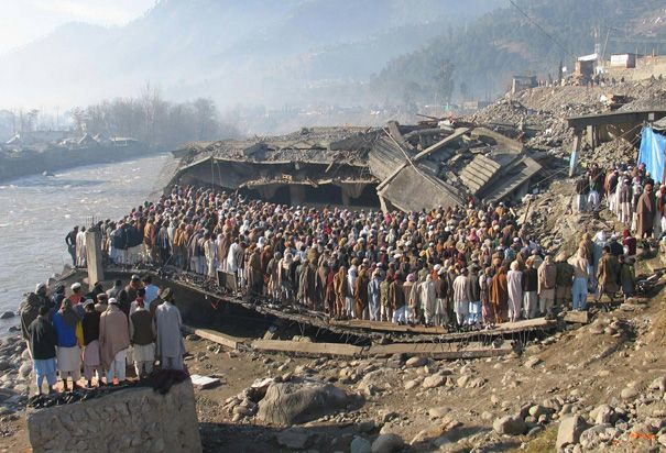 Earthquakes of the New Century — Survivors of the 2005 Kashmir Earthquake Offer Prayers in Balakot