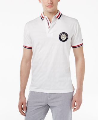 Tommy Hilfiger Men's Medwin Logo Polo - White S