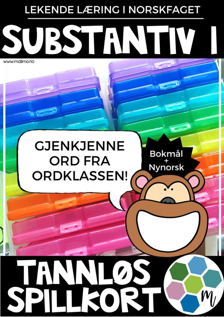 Tannløs-spillekort - Substantiv 1 - Gjenkjenning