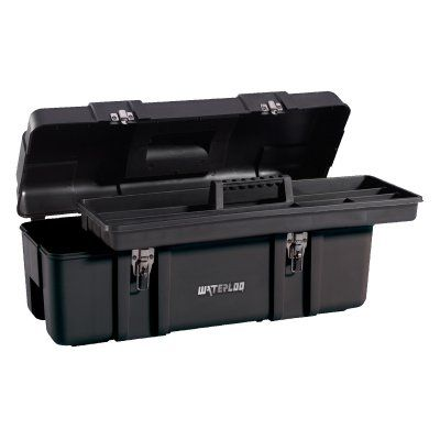 Waterloo 26 in. Plastic Tool Box - PP-2610BK, Durable