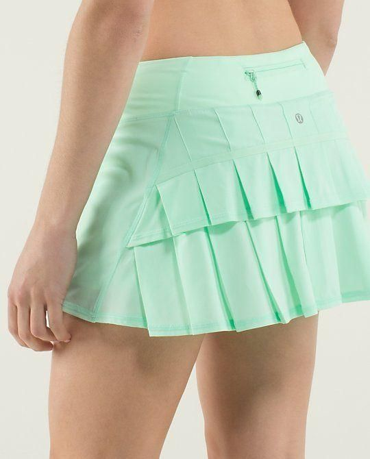 Adorable Tennis skirt by Lululemon| Tennis Dresses | Tennis Skirts | Tennis Ladies Apparel @ www.FitnessGirlApparel.com