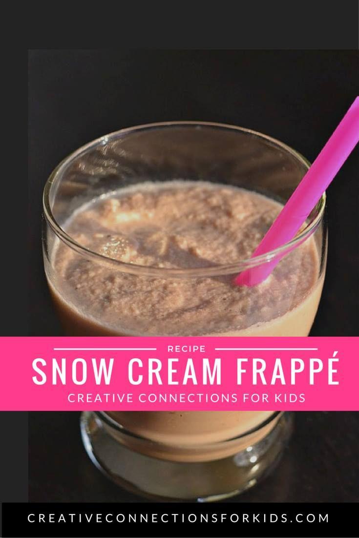 Snow Cream Frappe  - use the snow!