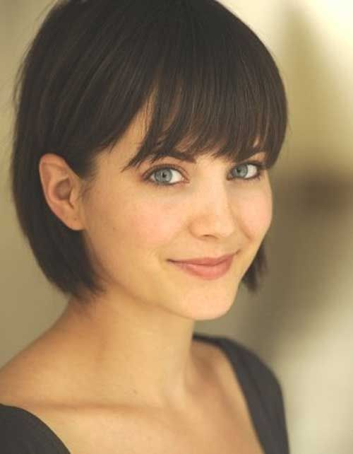 Sweet Short Bob Hairstyles with Bangs                                                                                                                                                                                 More
