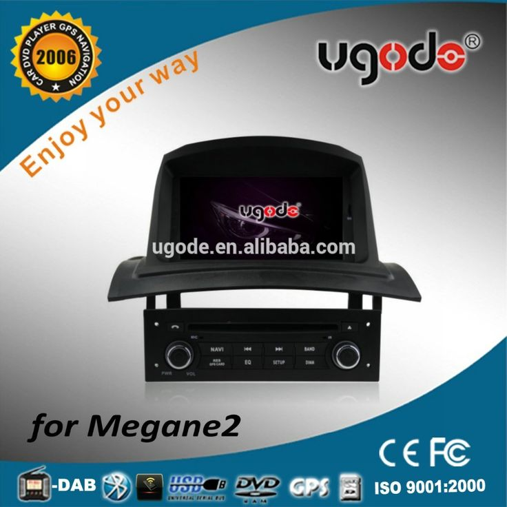 ugode factory wholesale wince 6.0 car audio dvd player with gps for renault megane 2