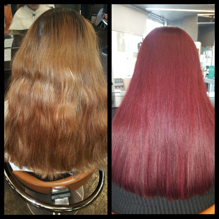 Perfect red color !! Change your life . Change your hair .🖌🎨  #Loreal #magirel #beautiful #red #haircolor #oiepikefalis