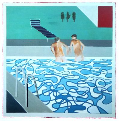 David Hockney / Swimming Pool