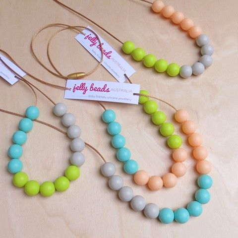 Spring Colours Range - baby friendly silicone beaded necklace