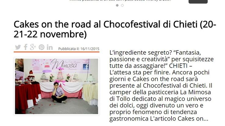 Chocofestival di Chieti #cakesontheroad Tratto da http://www.makemefeed.com/2015/11/16/cakes-on-the-road-al-chocofestival-di-chieti-20-21-22-novembre-832420.html