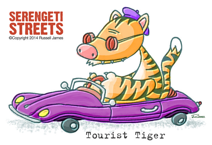 Serengeti Streets - Tourist Tiger by Russell James.