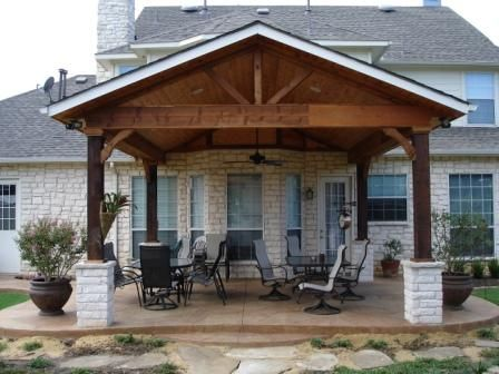 Patio cover - cabana: Backyard Ideas, Patio Covers, Covers Patio, Huts, Covered Patios, House, Crayons Canvas, Front Porches, Patio Ideas