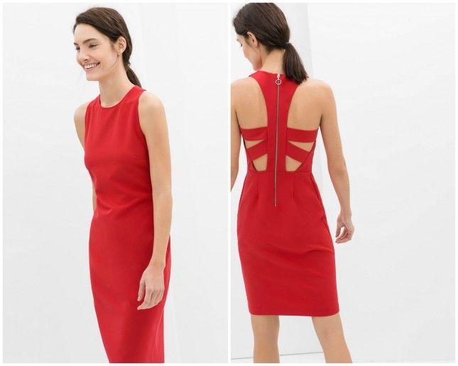 Loving this red Zara dress.