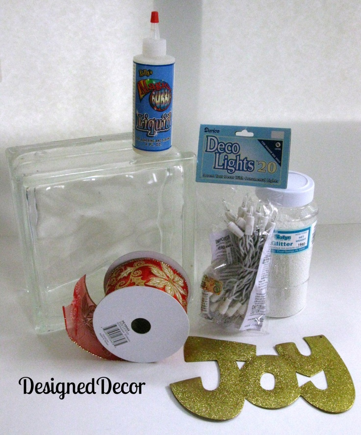 """Decorating Glass Blocks - another good """"how to"""" website."""