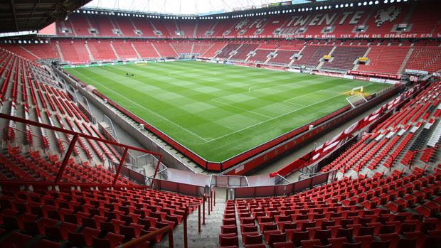 Picture of the Grolsch Veste, the stadium of the dutch soccer squad FC Twente. The stadium has a place for more then 30.000 people.