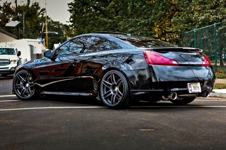 Infiniti G37 Coupe Black Rims