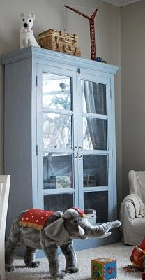 lightblue Pentik cabinet for kids' room
