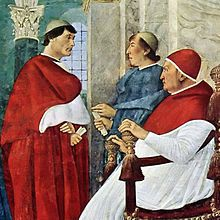 Pope Julius II - Giuliano della Rovere.  Enemy of Rodrigo and Cesare Borgia finally became pope. Responsible for St. Peter's Basilica and a patron of Michelangelo.