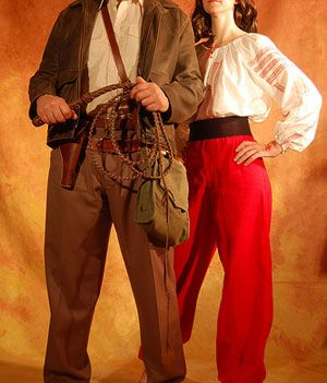 """Indiana Jones & Marion couples costume for this year - John and I will go as Indiana Jones and """"what's her name""""  :-)"""
