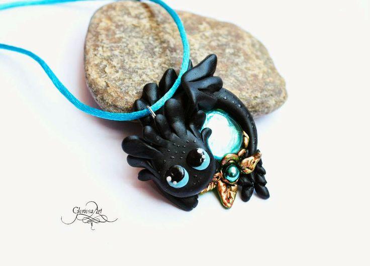 How to train your dragon - blue Hablaty - night fury - jewelry