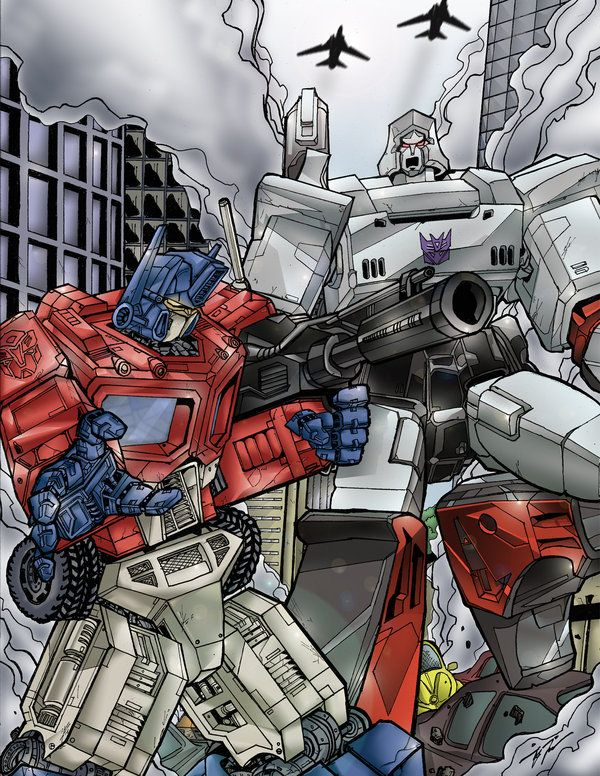 34 best images about transformers optimus prime vs - Transformers cartoon optimus prime vs megatron ...
